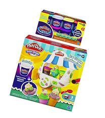 Play-Doh Sweet Shoppe Ice Cream Sundae Cart Playset and Play
