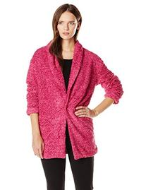 MINKPINK Women's Sweet Sunday Cardi Coat, Fuchsia Pink,
