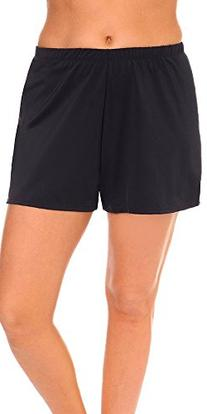 swimsuitsforall Women's Plus Size Loose Short 18 Black