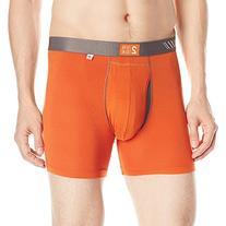 2Undr Men's Swing Shift Boxer Brief, Orange/Grey, X-Large