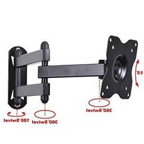 VideoSecu Swing Tilt Single Arm Computer Monitor Wall Mount