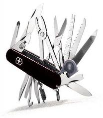 Victorinox / Swiss Army - 53503 - Knife, Swisschamp, Black