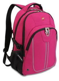Swiss Gear SA3192 Pink with Black Laptop Backpack - Fits