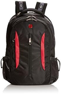 SwissGear SA1288 Black with Red Computer Backpack - Fits