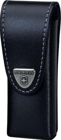 Victorinox Swisstool Belt Pouch, Medium, Leather Black