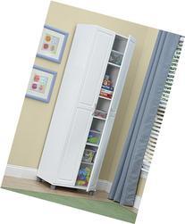 "SystemBuild Kendall 24"" Storage Cabinet, White Stipple"