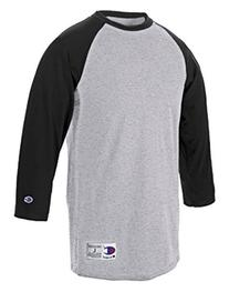 Champion T1397 Cotton Tagless Raglan Baseball T-Shirt