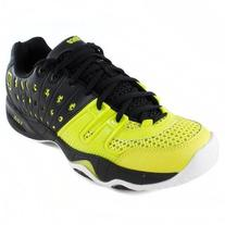 Men`s T22 Tennis Shoes Black and Green