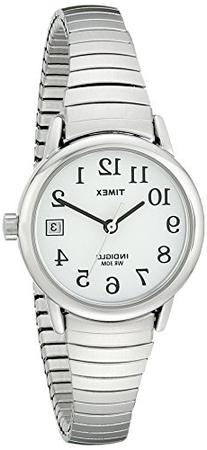 Timex Women's T2H371 Easy Reader Silver-Tone Stainless Steel