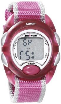 Timex Kids' T7B9809J IronKids Translucent Pink Resin Strap