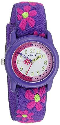 Timex Kids T89022 Time Teacher Purple/Pink Flowers Resin