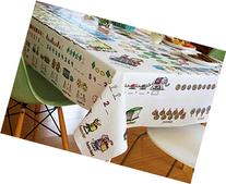 Children's Tablecloth, Mostly Math, Pre-k and kindergarten