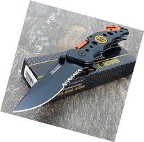 TAC FORCE KNIVES Assisted Opening Rescue Knives BLACK ORANGE