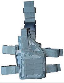 Large Tactical ACU Army Camo Pistol Handgun Drop Leg Holster