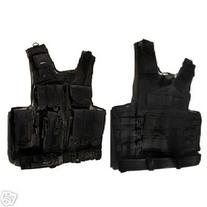 Tactical Crossdraw Vest w/Pistol Belt--BLACK