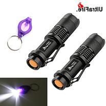 2pcs UltraFire Tactical Flashlight SK98 Adjustable Focus
