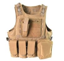 Tactical Molle Airsoft Vest Paintball Combat Soft Vest Tan
