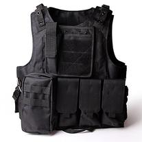 Tactical Molle Combat Vest Airsoft camouflage Police Fully