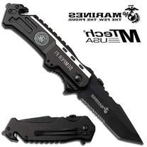 """1 X USMC Elite Tactical """"Semper Fi"""" Rescue Folder Knife -"""