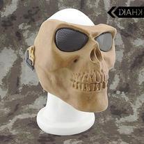 Canis Latran Tactical Skull Mask Khaki Color Full Face Mask