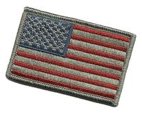 Tactical USA Flag Patch - Subdued Silver USA by Gadsden and