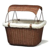 Solvit Tagalong Wicker Bicycle Basket for Dogs Interior: 15