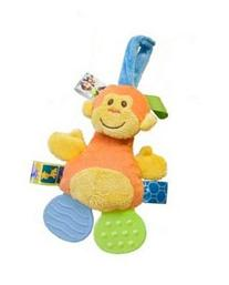 Mary Meyer TAGGIES Crinkle Zoo Teether - 7 Inches - Monkey