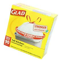 Glad Tall Kitchen Drawstring Trash Bags, Mega Pack