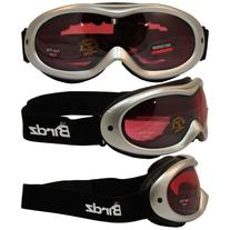 Birdz Eyewear Talon Ski Goggles with Silver Frame Rose