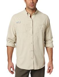 Columbia Men's Tamiami II Long Sleeve Shirt, Fossil, Medium