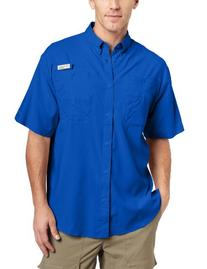 Columbia Tamiami II Shirt - Men's Vivid Blue, L