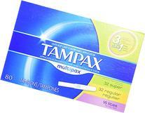 Tampax Anti-Slip Grip Cardboard Applicator, Lites/Regular/