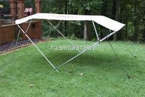 "New Tan/Beige Vortex 4 Bow Bimini Top 8' Long, 73-84"" Wide,"