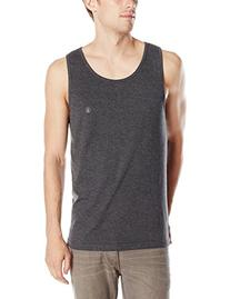 Volcom Men's Tank Top, Heather Black, Small