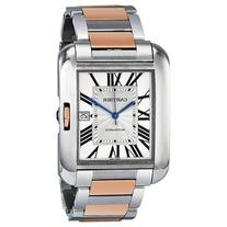 Cartier Tank Anglaise XL Automatic Silver Dial 18 kt Rose