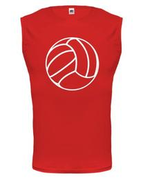 buXsbaum Tank Top Volleyball Ball-M-Red-White