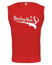 buXsbaum Tank Top Volleyball Logo-S-Red-White