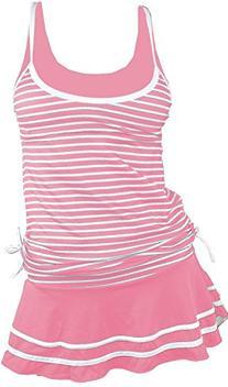 Women's Tankini Striped Vintage Swim Dress