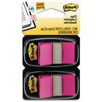 * Standard Tape Flags in Dispenser, Bright Pink, 100 Flags/