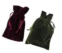 Tarot Bags Wine and Moss Green Velvet Duo Bundle