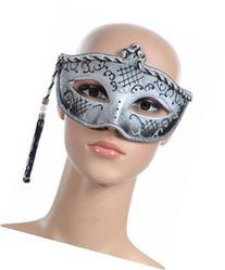 Tasseled Mardi Gras Mask