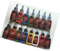 1TattooWorld Premium Tattoo Ink Set, 15 Color 1/2 oz  each,