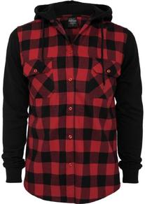 Urban Classics Men's TB513 Hooded Checked Flannel Sweat