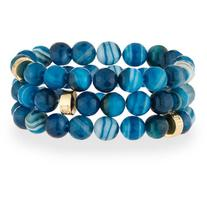 Nest Jewelry Teal Agate Stretch Bracelets