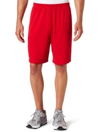 ASICS Men's Team 8 Knit Short, Red, Large