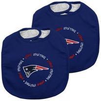 Baby Fanatic Team Color Bibs, New England Patriots, 2-Count