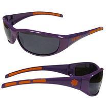 Team Logo Wrap Sunglasses--Clemson University Tigers