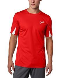 Puma Team Shirt, Team Orange-Black, X-Large