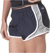 Soffe Juniors Team Shorty Short, Navy/Silver, X-Large