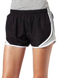 Soffe Juniors Team Shorty Short, Black/Silver, Medium